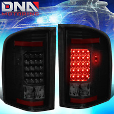 FOR 07-14 CHEVY SILVERADO BLACK SMOKED LED TAIL LIGHT BRAKE LAMP REPLACEMENT SET