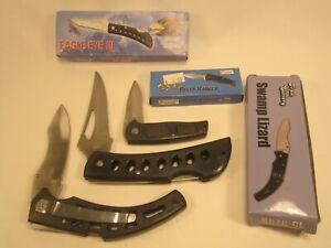 (3) POCKET KNIVES Frost Cutlery EAGLE EYE III Delta Ranger SWAMP LIZARD [Z36b]