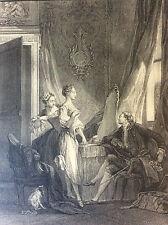 Baudouin La toilette gravure  XVIIIe Retirage héliogravure de 1920.classique