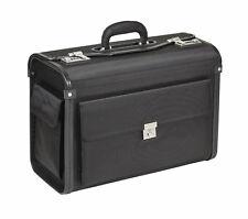 Dermata Nylon Pilotenkoffer Aktenkoffer mit Vortasche und zwei Seitentaschen