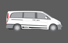 Mercedes-Benz Vito AMG Style Side Stripe Decal Stickers Set. Sports, Camper etc.
