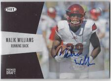 MALIK WILLIAMS 2018 SAGE Premier Draft High BLACK AUTOGRAPH auto LOUISVILLE