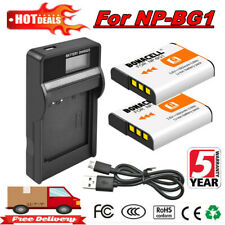 2X 1600mAh NP-BG1 Battery + LCD Charger For Sony Cyber-shot DSC-W220 DSC-H55 EG