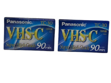 Panasonic Vhs-C Tc-30 Super High Grade 90 Min Video Cassette Tapes Lot Of 2- New