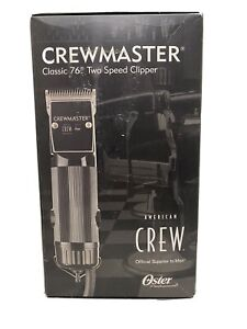 American Crew Oster Crewmaster 76 Clipper with #1 & #000 2 Combs Included