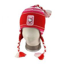 Hello Kitty Niños Niñas Gorro de Invierno Borla y Coletas Niñas Sombrero