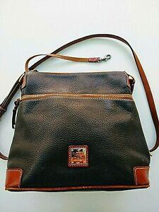 Dooney & Bourke Black Pebble Leather Crossbody Bag