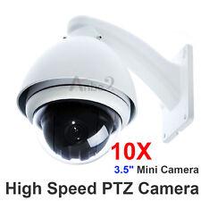 "360° CCTV 10x Zoom 1/3"" SONY CCD 700TV Outdoor MINI Dome High Speed PTZ Camera"