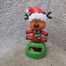 Solar Dancing Reindeer with Santa Hat