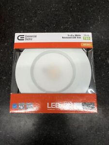 🔥Commercial Electric 5 in. and 6 in. 2700K White Recessed LED Trim 80 CRI