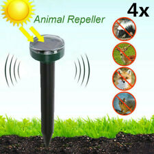 4x Solar Power Ultrasonic Sonic Mouse Gopher Mole Pest Rodent Repellent Repeller