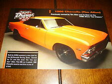 1966 CHEVELLE HOT ROD TIM ALLEN THE CAR CHASERS ***DOUBLE SIDED SALES SHEET