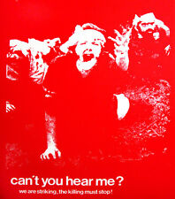 KENT STATE STUDENT STRIKES, 1970 (Red) VIETNAM CAMBODIA protest poster