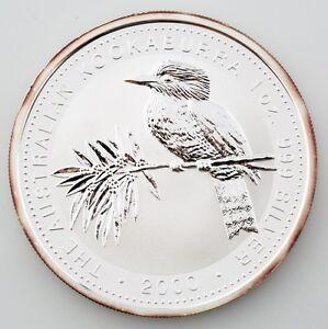 2000 Australian Kookaburra 1 oz. 999 Silver BU Coin Queen Elizabeth II
