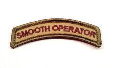 MILSPEC MONKEY Morale Hook/loop Patch Smooth Operator Tan
