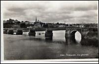 CPA France ~1930/40 TRÉGUIER Brücke Fluss Gesamtansicht Postkarte Frankreich