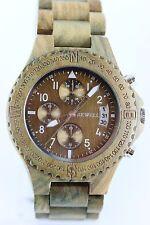 Bewell Wooden Watch MAN'S CHRONOGRAPH DATE sandelholz-grün Gift Wrist