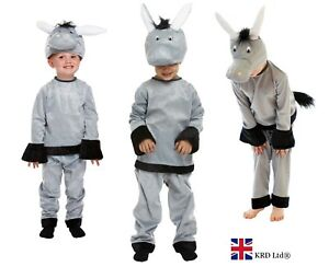 Kids DONKEY FANCY DRESS COSTUME Boys Girls Child Book Week School Play Outfit UK