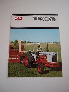 Case David Brown 885 990 995 1210 1212 1410 1412 Tractor Brochure 16 pg MINT '74