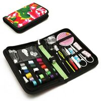 38Pcs Travel Sewing Kit Storage Case Thimble Thread Measure Tape Scissor Set UK