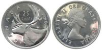 Canada 1962 Silver 25 Cents Choice BU UNC MS-63 Quarter!!