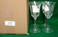 Lenox Crystal ALLURE Wine Stems SET OF FOUR More Items Available NEW in BOX!