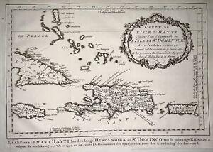 1770 Schley - Map of Cuba, Jamaica and part of the Bahamas, Haiti - Fine