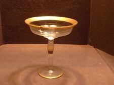 Elegant Depression Gold Encrusted Footed Compote