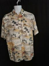 Pierre Cardin Hawiian Camp Shirt Med Palm Trees Sailboats Lobsters Drinks
