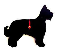 Briard Dog Wall Clock in Black