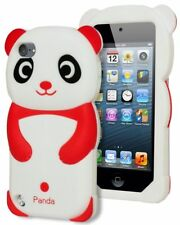 Case for iPod Touch 5th Generation 5g Cute 3D Animal Red Soft Silicone Panda