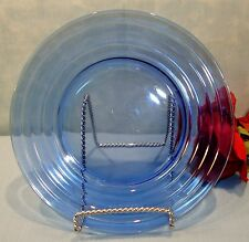 Hazel Atlas Moderntone Cobalt Blue Depression Glass Luncheon Plate, 8 inch
