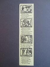 Vintage BOOKMARK 1986 Bodleian Library OPIE APPEAL Childrens Books Nursery Rhyme