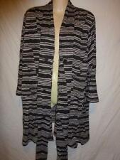 Plus Size Striped Basic Jackets for Women
