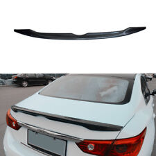 Rear Trunk Spoiler Wing For 2014-2017 INFINITI Q50 JDM OE Style ABS Carbon Fiber