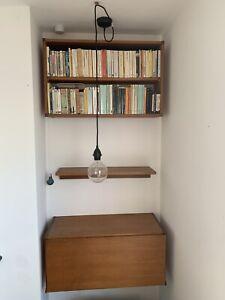 Mid century shelving unit Bookcase Desk 60s 70s