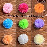 "5pcs 6"" 8"" 10"" 12"" Tissue Paper PomPoms Flower Balls Wedding Party Outdoor Decor"