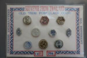 Über 65 verschiedene Münzen aus Thailand aus alten Souvenirkits