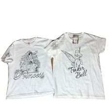 NWT Youth Size Small Disney Princess & Tinker Bell Color Your Own Tee T-shirt