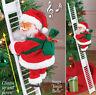 Christmas Santa Claus Electric Climb Ladder Hanging Decoration Christmas Tree US