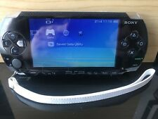 Black Sony PSP 1000 console, memory card & charger * Fully Working *Jailbroke*
