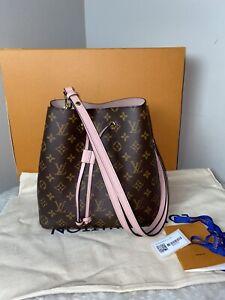 Authentic Louis Vuitton neonoe monogram Rose Poudre Bag