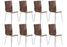 8er Set Besucherstuhl Pepe Wartezimmer Stuhl walnuss