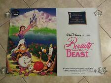 Beauty and the Beast movie poster Walt Disney original 1991 UK poster