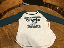 Philadelphia Eagles NFL Juniors White Raglan T-Shirt Size XL (15 17) 55260dc7b