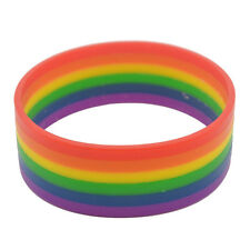 Silicone Rainbow Gay Les Love Pride Wristband Bracelet 6 Colours Couples Lovers