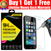 LIFETIME WARRANTY- REAL TEMPERED GLASS SCREEN PROTECTOR FOR APPLE iPhone SE 5S 5