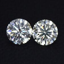 1.81 cts Natural Diamond G Color Round Cut Pair Belgium Amazing 6 mm Loose Gems