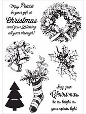 Silent Night Christmas, Clear Unmounted Rubber Stamp Set KAISERCRAFT - New CS271
