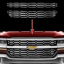 2016 17 Chevy Silverado 1500 CHROME Snap On Grille Overlay Grill Covers Inserts